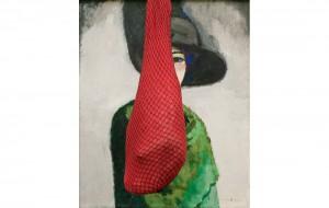 beeld13 GE 6572-100907-221019 (Van Dongen, woman with black hatham) 80 x 65 cm